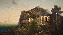 George Loring Brown, American (1814-1889), A View of Pompeii, 1864, oil on canvas, 59 1/2 x 33 1/2 inches