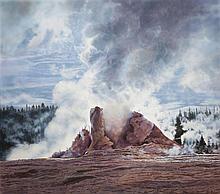 Elizabeth Cavanagh Cohen, St. Louis, Steaming Geyser, 1977, oil on canvas, 51 x 58 inches