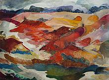 Elizabeth Cavanagh Cohen, St. Louis, Surveyor's landscape, oil on canvas, 52 x 69 inches