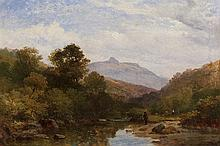 William Williams of Plymouth, British (1808-1895), A Welsh stream, oil on canvas, 11 3/4 x 17 3/4 inches