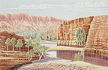 Peter Taylor, Australian, King's Canyon, 2000, watercolor on paper,