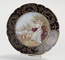 William Guerin, Limoges, Hand Painted Porcelain Plate