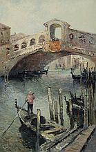 Ludwig Gschossmann, German (1894-1988), Realto Bridge - Daytime, oil on canvas, 32 x 20 inches