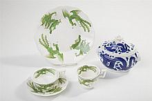 Antique English CHINESE DRAGON Pattern Porcelain (5)