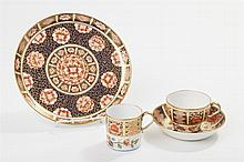 Four Pieces English Derby Imari Style Porcelain