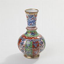 Chinese Imari Porcelain Vase, Kangxi Copy of Artemisia Leaf Mark