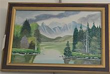 W.D. Segwia, American, 20th century, Landscape, oil on board