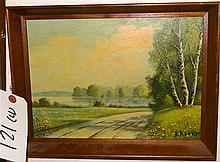 O. Kuhnert, 20th century, landscapes, oil on board