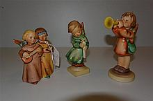 Three Hummel figurines, 'full bee' marks
