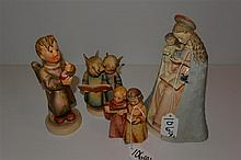 Four Hummel figurines, 'stylized bee' marks