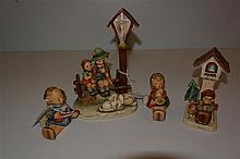 Four Hummel figurines, 'stylized bee' mark