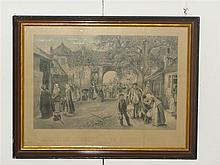 Collection of vintage and framed prints
