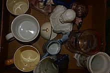 Collection of pottery souvenirs, English and Dutch