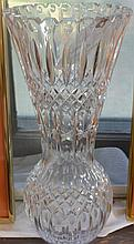 Cut glass tall vase
