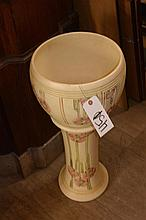 Weller pottery jardiniere on stand