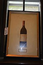 Decorative print depicting a bottle of Chateau Royal merlot