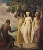 Louis Grell, American (1887-1960), Judgment of Paris, 1937, oil on canvas, 55 1/2 x 48 1/2