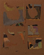 Arthur Osver, American (1912-2006), Abstract composition, ink and watercolor on paper, 10 x 8 inches (sight)