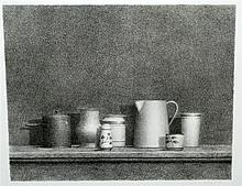 William Bailey, American (B. 1930), Still Life #5, lithograph, 17 7/8 x 22 5/16 inches