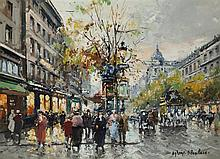 Antoine Blanchard, French (1910-1988), Grands Boulevards, oil on canvas, 13 1/8 x 18 1/8 inches