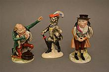 Three Continental Porcelain Caricature Figurines