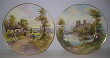Two Royal Worcester Cabinet Plates