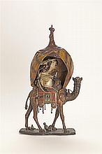 Austrian Cold Painted Figural Bronze Lamp