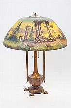 Moe Bridges Reverse Painted Table Lamp