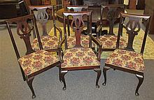 Set of 11 Queen Anne Style Dining Chairs