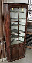 19th Century Two Member Corner Cupboard