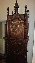 Fine Gothic Style Carved Tall Clock Case