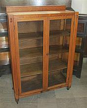 Arts & Crafts Oak China Cabinet