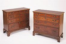 Pair English George III Bachelor's Chests