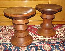 Pair of Vintage Charles and Ray Eames Life Time Stools