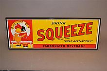 Vintage Original Orange Squeeze Embossed Sign #2