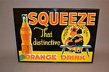Vintage Original Orange Squeeze Embossed Sign