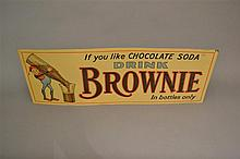 Vintage Original Brownie Chocolate Soda Embossed Sign