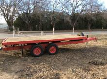 Flatbed Trailer - 7' x 10' Tandem Axle, Bumper Pull with 2 Ton Platform