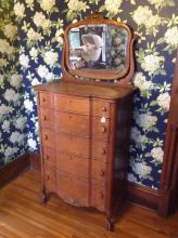 Oak Highboy Dresser