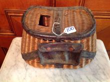 Antique Fly Fishing Basket