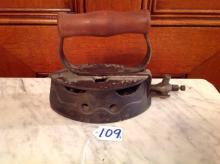 Antique Steam Sadd Iron