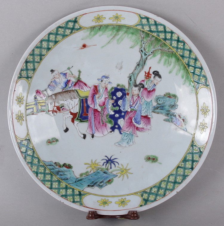 A 19th Century Chinese Famille Verte Porcelain Charger