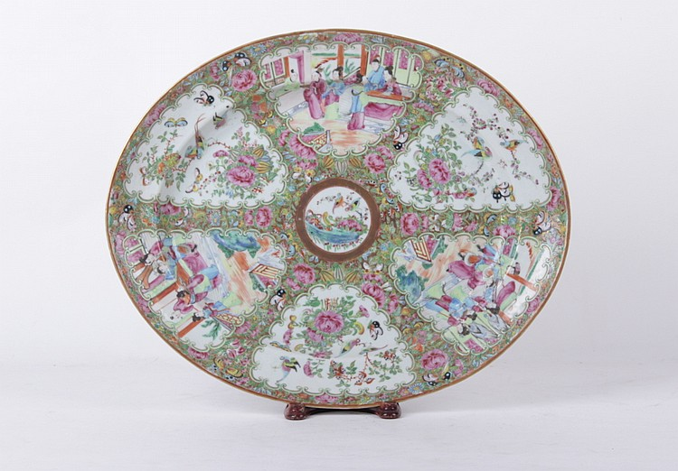 A Large Chinese Rose Medallion Platter