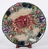 A Caldas Majolica Plate with Crab Decoration