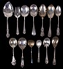 Estate Lot: Sterling Silver Serving Spoons, 19th and 20th Centuries