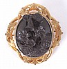 Victorian Style Vulcanite High Relief Cameo Brooch
