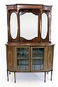 An Edwardian mahogany mirror back sideboard on a