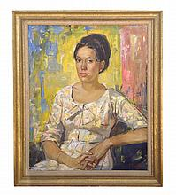 George Cherepov (American, 1909-1987), Portrait of a Lady, oil on canvas, signed, circa 1970s