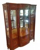 Louis XVI Style Mahogany and Burlwood Display Cabinet
