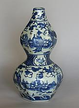 A Chinese Blue and White Double Gourd Vase. 19th century